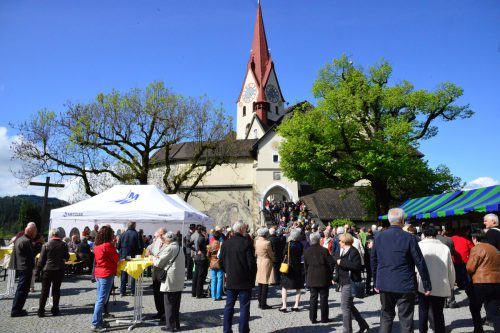 Die Basilika ist das Ziel von Hunderten Pilgern und Wallfahrern. Kath.Kirche VBG