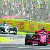 Eine Blase bremstdie Formel 1