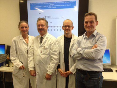 Die Forschergruppe der Universität in Bern (v. l.): Iris Baumgartner, Heinz Drexel, Marc Schindewolf und Jörn Dopheide. Universität bern