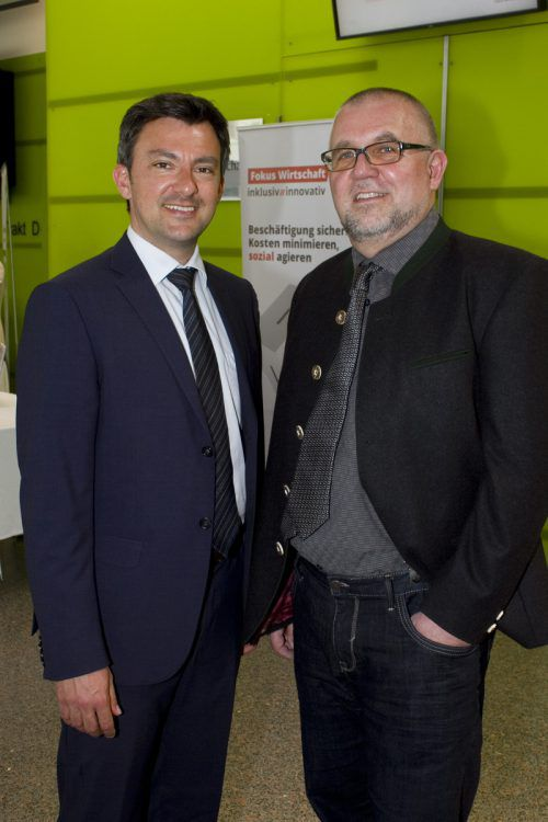 Die Gastgeber Martin H. Staudinger (l.) und Markus Kecht.