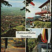 """<p class=""""caption"""">Die Karrenseilbahn wurde 1956 eröffnet und 1996 modernisiert.</p>"""
