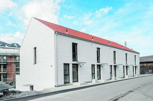 Die Townhäuser und Gartenwohnungen stehen zum Sofortkauf, elf weitere Wohnungen zum Stufenkauf.bilder: RIVA-home