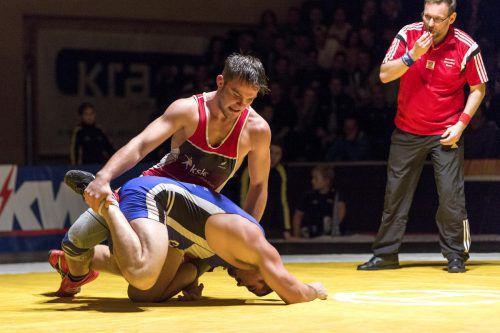 Lokalmatador Dominic Peter verteidigte den Titel in der 97-kg-Klasse.VN/Stiplovsek