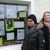Mittelschule Herrenried gestaltete Schaufenster