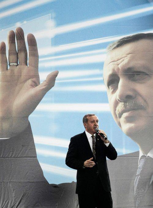 Erdogan, damals noch Ministerpräsident, 2014 in Wien. Österreich will türkische Ministerauftritte unterbinden. AFP