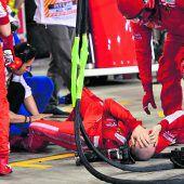 Ferrari-Mechaniker kam beiRaikkönens Stopp unter ein Rad