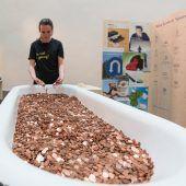 Einmal in Geld baden