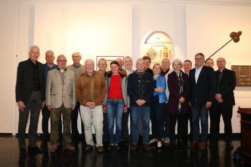 Feldkirchs Altpolitiker trafen sich zur Führung und zum Stammtisch im Palais Liechtenstein.
