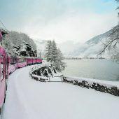 Mit dem Zug durch die Berge