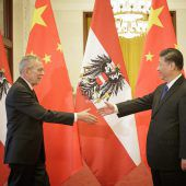 Freundlicher Empfang bei Xi