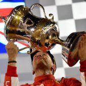 Ferrari-Star Sebastian Vettel hat in Bahrain auch den zweiten Grand Prix gewonnen. C1