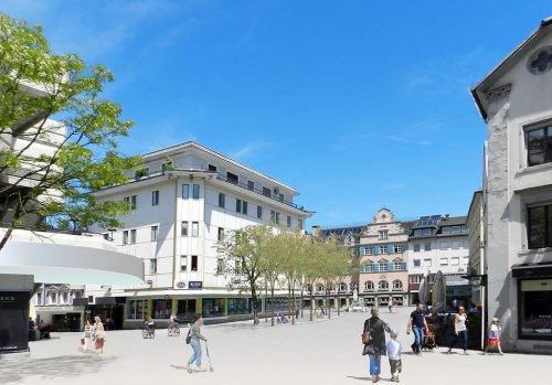 Quartiersentwicklung Leutbühel: Die erste Etappe kostet rund 1,8 Millionen Euro. Umsetzung startet im Herbst.Wimmer Armellini Architekten