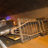 Im Tunnel quergelegt