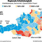Die wenigsten Arbeitslosen zählt im Land der AMS-Bezirk Bludenz