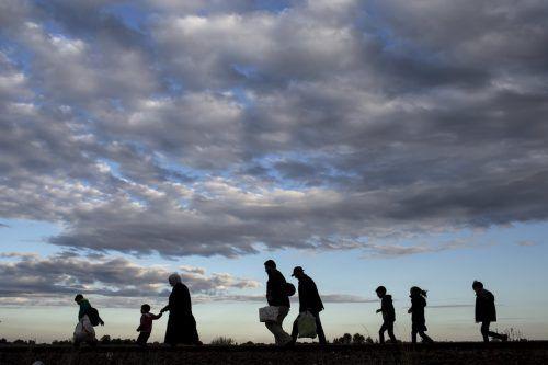Flüchtlinge erreichen 2015 das ungarische Roszke. In Fluchtsituationen wird Gruppenidentität besonders bedeutsam, sagt Psychoanalytiker Volkan. Reuters