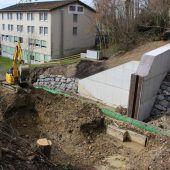 Maßnahmen gegen Hochwasser in Lochau