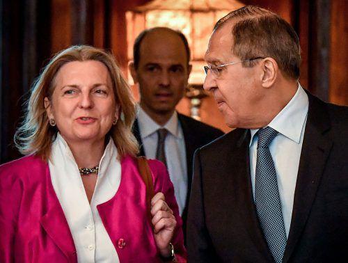 Für eine Vermittlerrolle Wiens in Syrien sieht Lawrow wenig Möglichkeiten. AFP