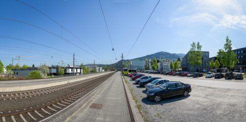 Große Flächen links und rechts der Gleise befinden sich im Besitz der Stadt Dornbirn.VN/Stiplovsek