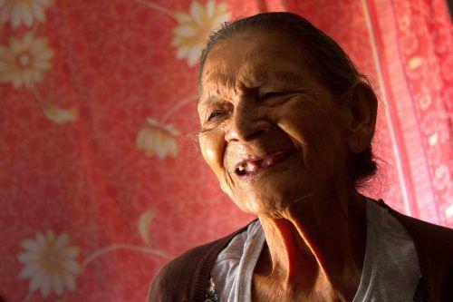 Guadalupe Palacios will mit 100 ihren Abschluss haben. AFP