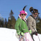 Ski und Tracht in perfekter Symbiose