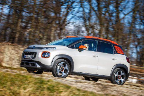 Gute Laune strahlt der Citroën C3 grundsätzlich aus, als Aircross erst recht, vor allem mit farblich fröhlichem Individualisierungsprogramm.