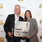 Best-Recruiter-Gütesiegel für Raiffeisenlandesbank