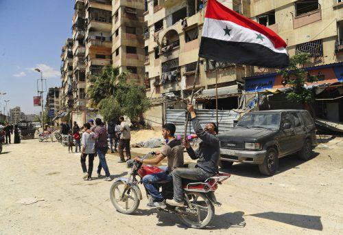 In der Stadt Duma in Ost-Goutha soll Assads Militär angeblich Chemiewaffen eingesetzt haben. ap