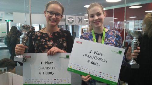 Jorunn Felder (l.) und Katharina Herburger hielten die Vorarlberger Fahnen in Wien erfolgreich hoch. vlk/wk