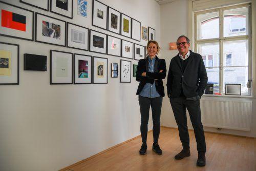 Judith Reichart und Wolfgang Fetz haben das legendäre Magazin 4 im Eichamt in Bregenz wiederbelebt. VN/lerch