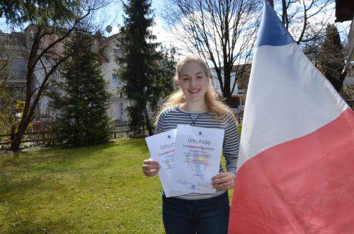 Katharina Herburger ist zweifache Fremdsprachen-Landessiegerin. ger