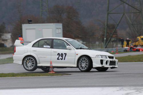 Kevin Zuschlag war mit seinem Mitsubishi-Lancer beim Cup-Auftakt zweitschnellster Ländle-Pilot. noger