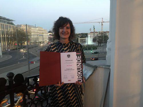 Knecht wurde mit dem Buchpreis der Wiener Wirtschaft ausgezeichnet.VN