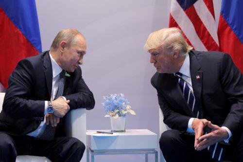 Kremlchef Wladimir Putin und US-Präsident Donald Trump beim G20-Treffen 2017. Nun stehen die Zeichen auf Konfrontation. reuters, Celia di Pauli