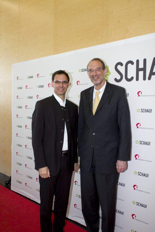 Landeshauptmann Markus Wallner und Bildungsminister Heinz Faßmann (r.).