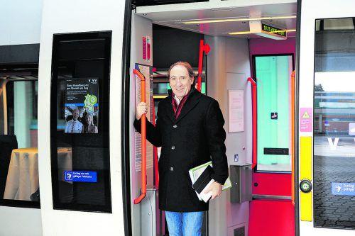 Landesrat Johannes Rauch: Am Ausbau der Infrastruktur für Bahn und Fahrrad sowie an sanften Mobilitätskonzepten wird mit Hochdruck gearbeitet.VLK