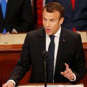 Macron drängt vor US-Kongress auf Umweltschutz