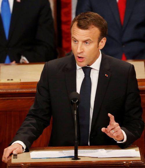 """""""Make our planet great again"""", forderte der französische Präsident. reuters"""