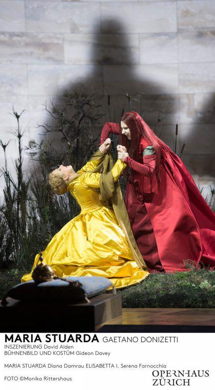"""Maria Stuarda"" mit Diana Damrau und Serena Farnocchia.Oper/Rittershaus"