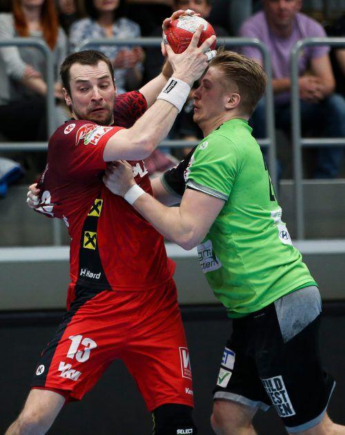 Marko Tanaskovic und Hard setzten sich im Cupfinale mit 31:30 durch.gepa