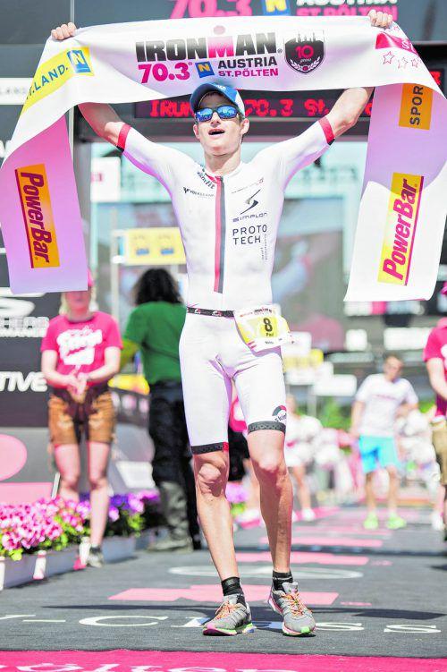 Nach einer verletzungsbedingten Zwangspause 2017 will Paul Reitmayr wieder voll durchstarten. Erstes Saisonziel ist der Start am Ironman in Klagenfurt.GEPA
