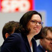 Andrea Nahles übernimmt mit kräftigem Dämpfer die SPD
