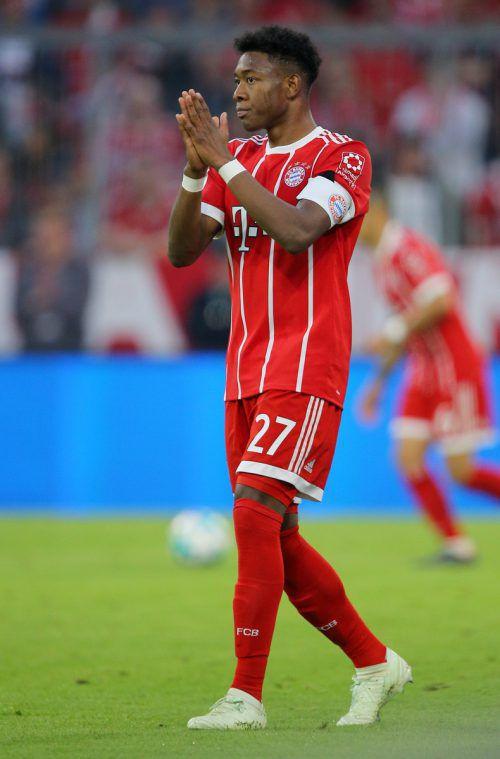 Noch bangt David Alaba um seinen Einsatz gegen Real.gepa