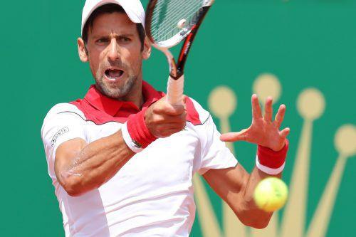 Novak Djokovic hatte in Runde eins Mühe, steht aber heute im Achtelfinale Dominic Thiem gegenüber.ap