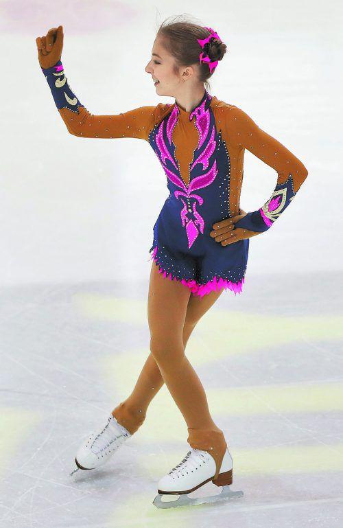 Olga Mikutina heimste bei der Trophy in Jesenice Höchstpunkte ein.gepa