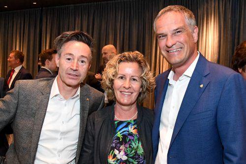 Oliver Prantl (l.), Beate und Mario Leiter, Vizebürgermeister Bludenz.