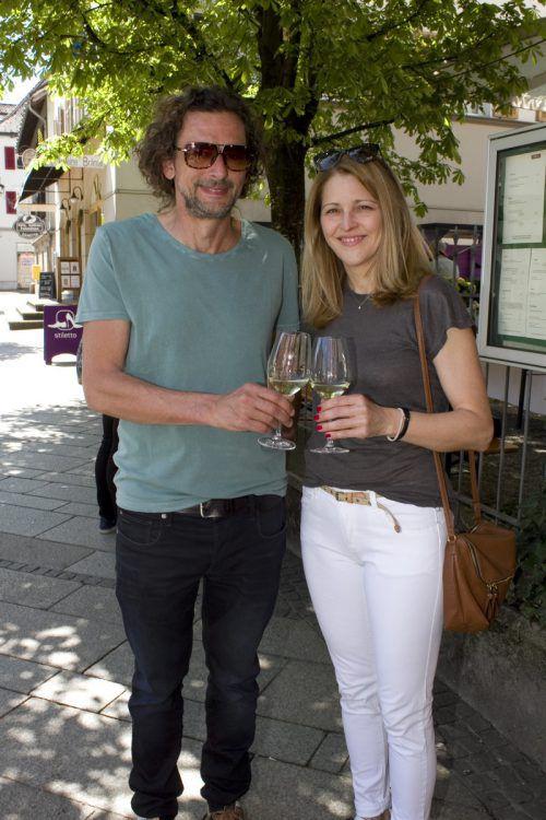 Organisator Marty Rauch und Angelika Holzer.