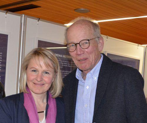 Ortschronisten Dagmar Eberle und Josef Holzmüller.