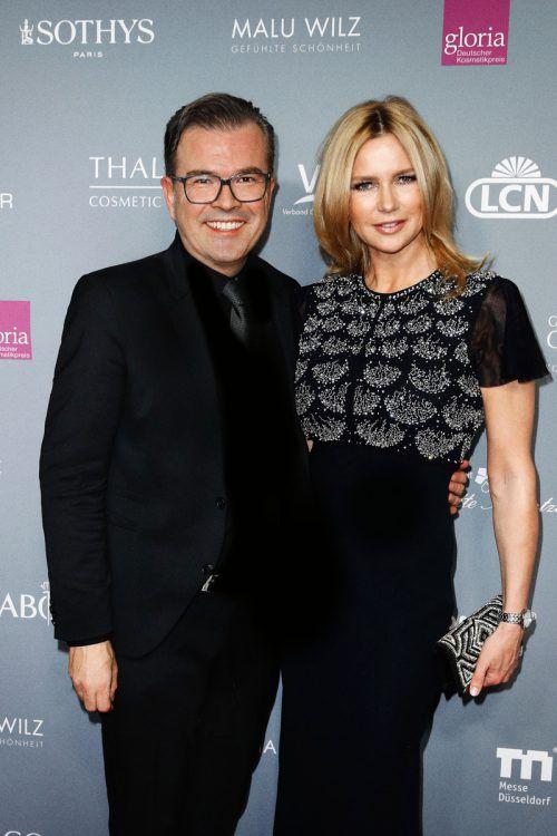Reinhard Mätzler mit Schauspielerin Veronica Ferres beim Deutschen Gloria-Kosmetikpreis. Franziska Krug