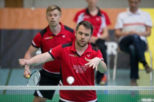 Rene Nichterwitz-Erath (vorne) und Matevz Bajuk mussten sich erstmals in dieser Saison gegen Jürgen Koch/Peter Zauner geschlagen geben. VN/Sams