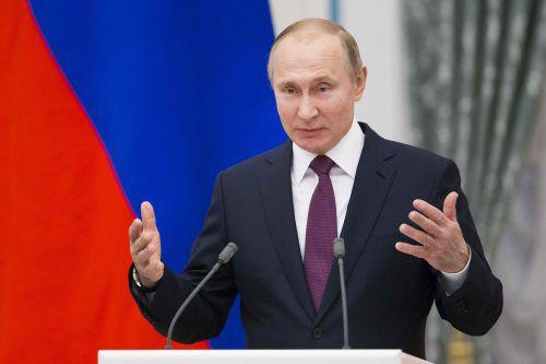 Russland kündigt als Reaktion auf US-Sanktionen ebenfalls Sanktionen an. REUTERS
